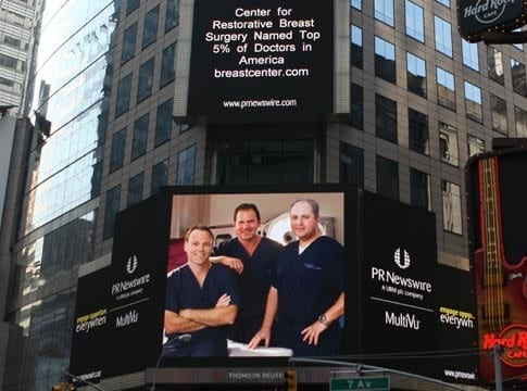 Breast Reconstruction Team Billboard Photo - Center for Restorative Breast Surgery