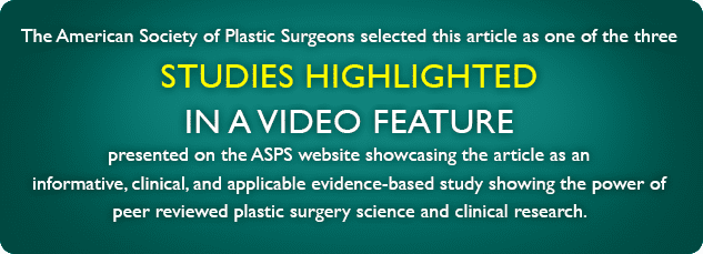 ASPS Studies Highlighted Banner Photo - Center for Restorative Breast Surgery